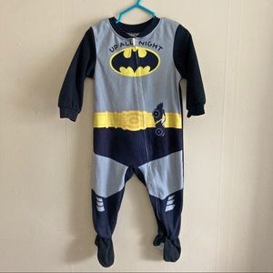 BATMAN onesie fleece pajama footies